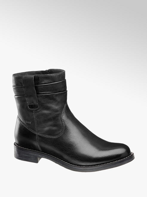 Highland Creek Leder Stiefeletten in Schwarz