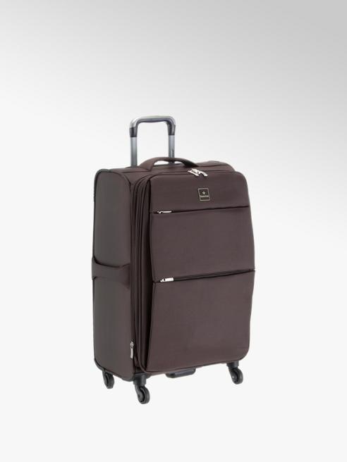 saxoline Hnědý cestovní kufr Saxoline, vel. M