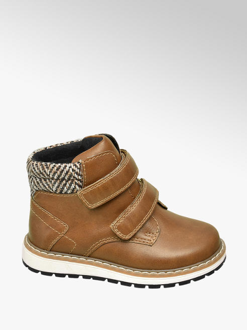 Bobbi-Shoes Hnědá dětská kotníková obuv na suchý zip Bobbi-Shoes