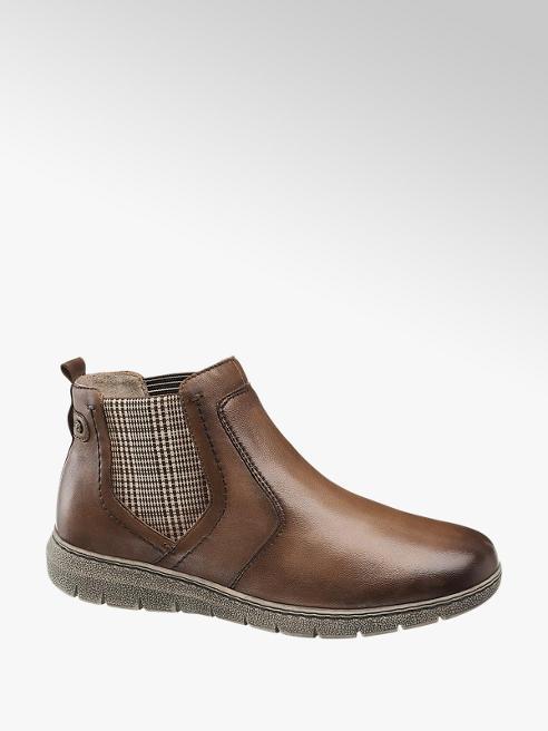 Medicus Hnědá kožená komfortní Chelsea obuv Medicus