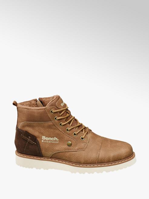 Bench Hnědá kožená kotníková obuv Bench