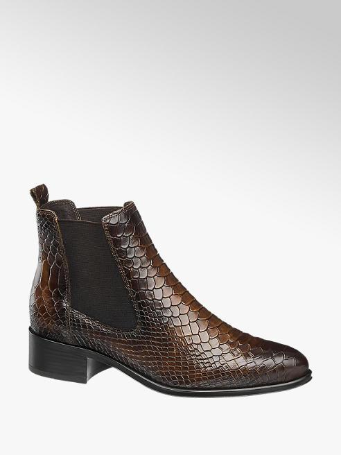 5th Avenue Hnědá kožená obuv chelsea 5th Avenue se zvířecím vzorem