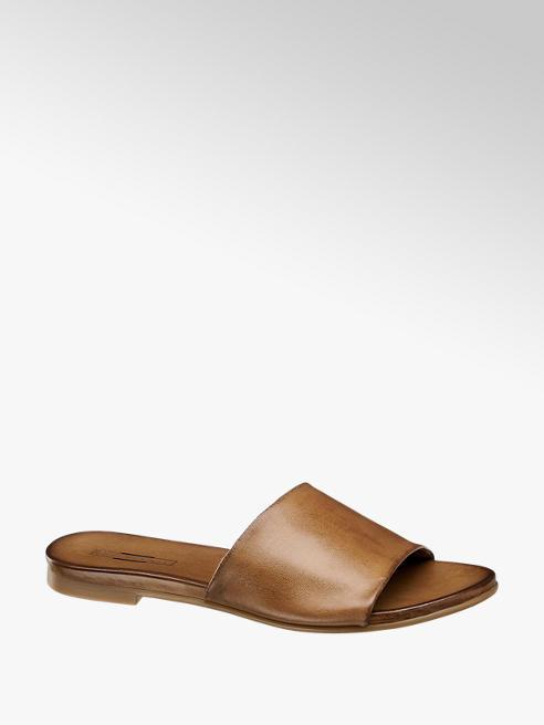 5th Avenue Hnědé kožené pantofle 5th Avenue