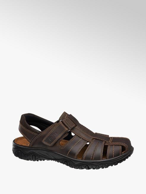 Gallus Hnědé kožené sandály Gallus