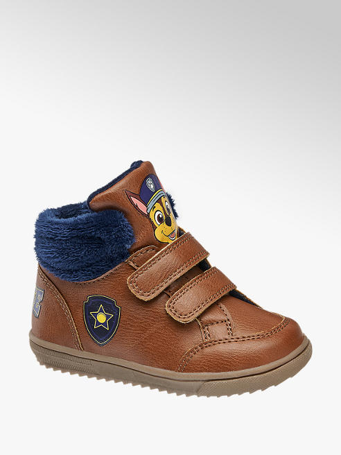 Paw Patrol Hnedá detská členková obuv na suchý zips Labková patrola