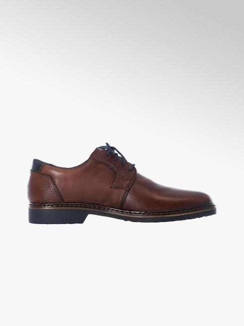 Rieker Hnedá kožená komfortná spoločenská obuv Rieker