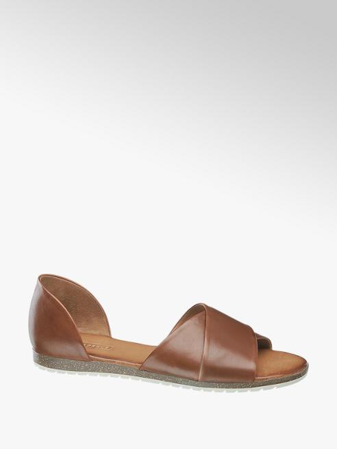 5th Avenue Hnedé kožené sandále 5th Avenue