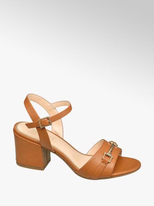 Esprit Hnedé sandále na podpätku Esprit