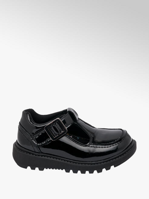 Hush Puppies Toddler Girl Hush Puppies Patent Leather Chunky T-Bar School Shoes - Dual Fit