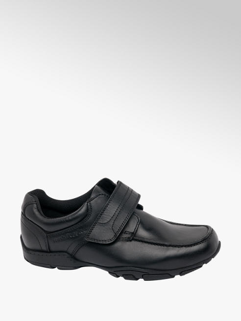 Hush Puppies Junior Boy Black Hush Puppies Single Strap School Shoes