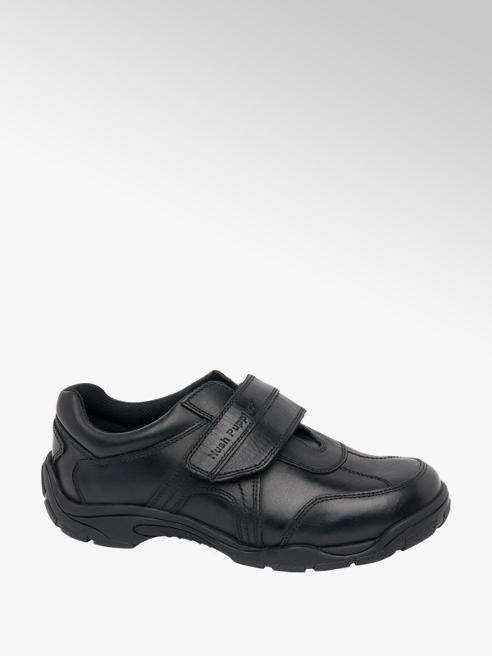 Hush Puppies Junior Boy Black Hush Puppies Single Strap School Shoes