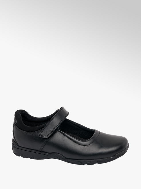 Hush Puppies Junior Girl Black Hush Puppies Plain Bar Shoes