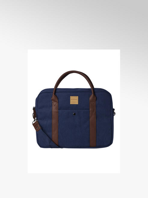 Jack + Jones Jack + Jones Navy Canvas Laptop Bag