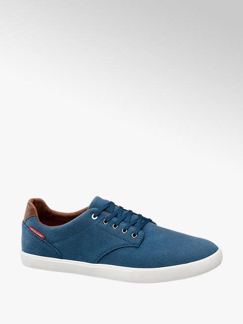 Jack + Jones Leinen Sneaker in Blau