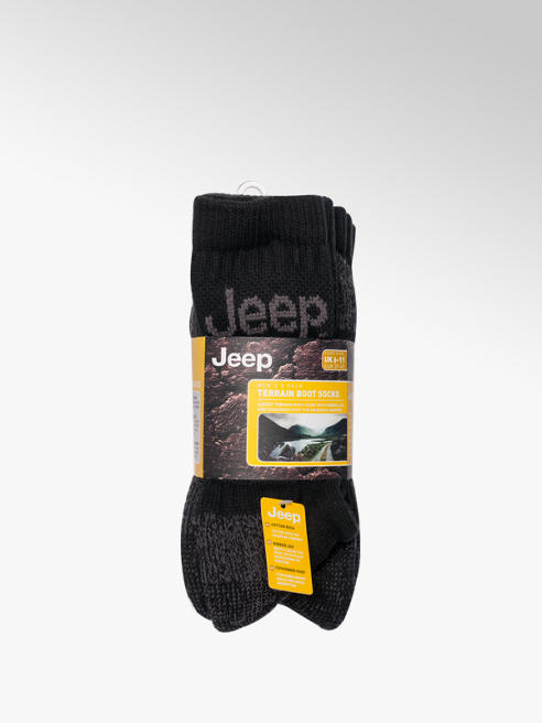 Jeep Mens 3 Pack Jeep Terrain Boot Socks (UK 6-11)