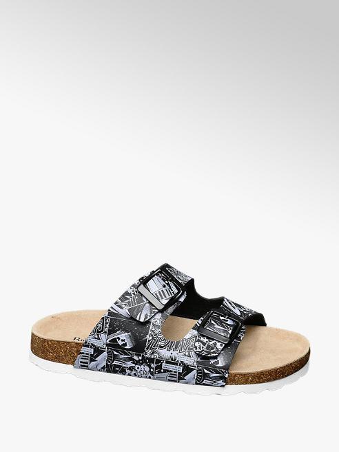 Memphis One Junior Boy Comic Print Footbed Sandals