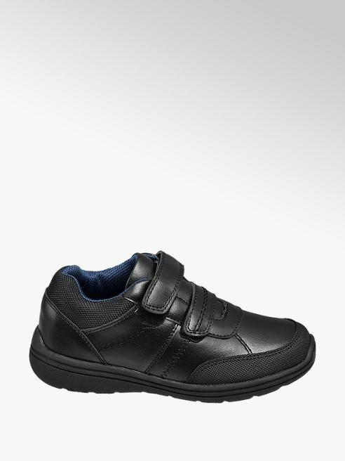 Memphis One Junior Boys Black Twin Strap Sporty School Shoes