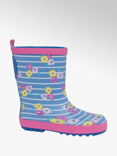 Junior Girl Floral Print Wellingtons