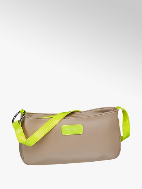 Kendall + Kylie Handtasche in Braun mit Neonelementen