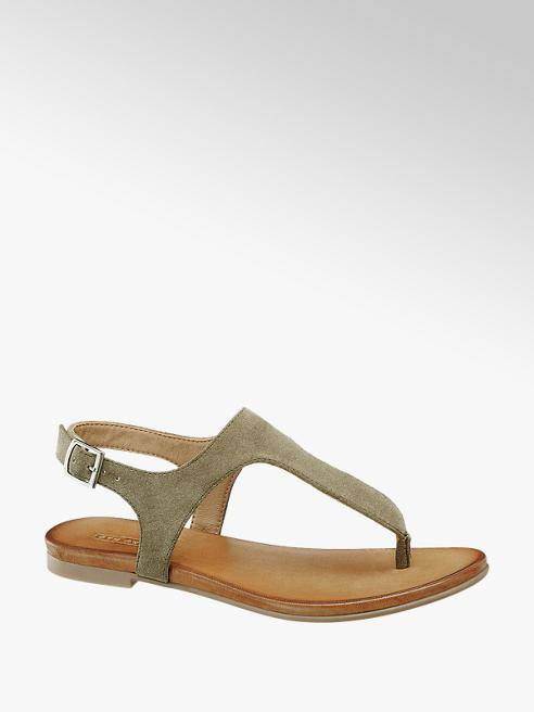 5th Avenue Khaki kožené sandály 5th Avenue