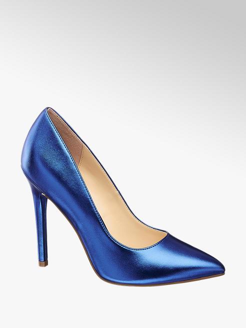 Catwalk Kék csillogós tűsarkú