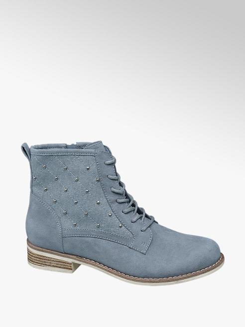 Graceland Kék szegecses bokacsizma