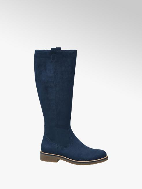 Catwalk Kék színű hosszú szárú csizma