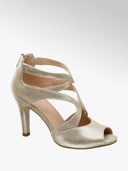 5th Avenue Kožené metalické sandále