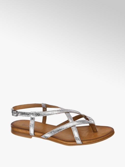 5th Avenue Kožené metalické sandály