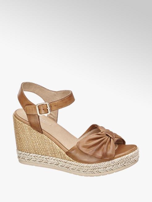 5th Avenue Kožené sandály na klínku