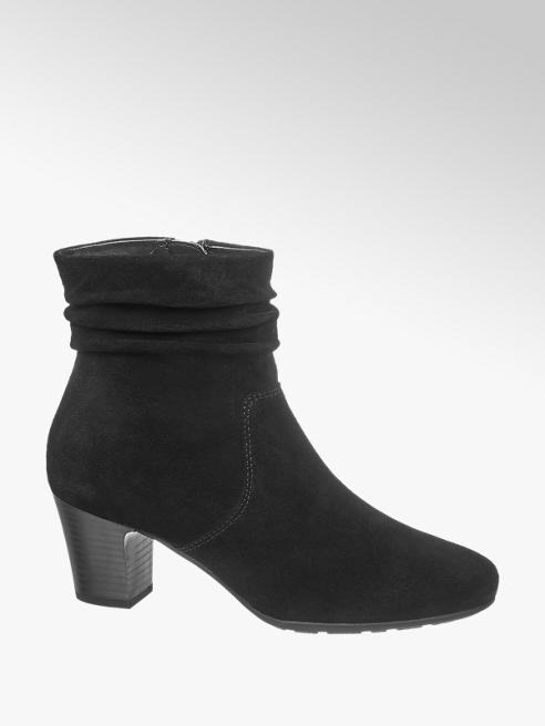5th Avenue Black Heeled Ankle Boots
