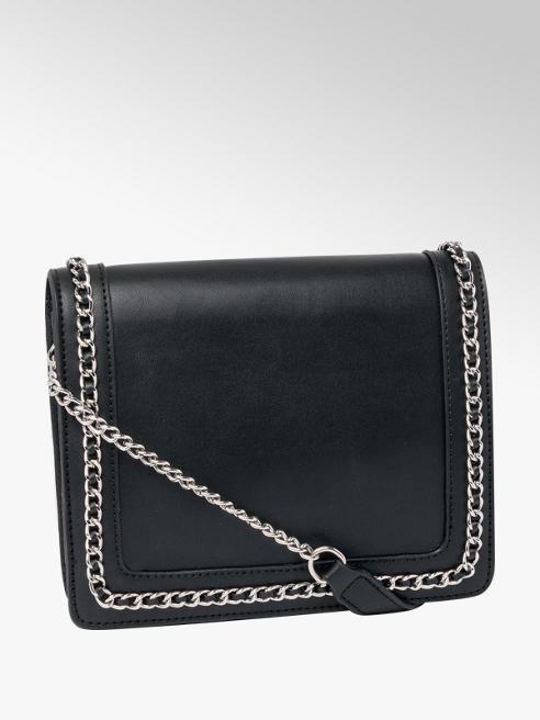 Black Chain Detail Cross Body Bag