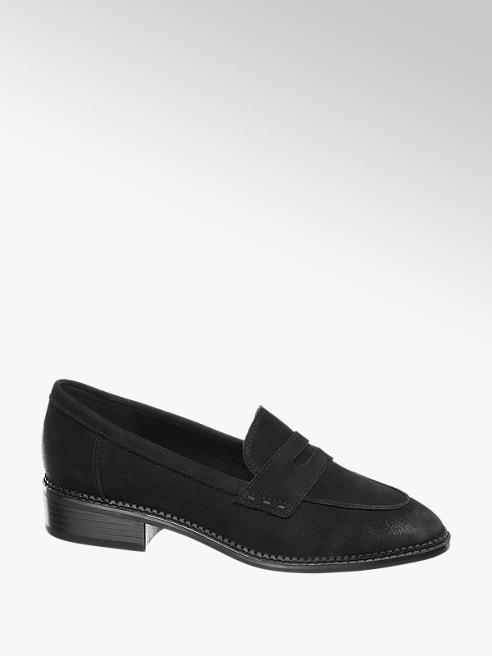 5th Avenue Black Leather Loafers