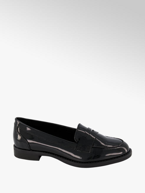 Graceland Black Patent Loafers