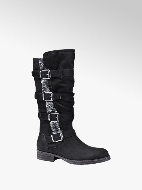 Graceland Black High Leg Boots