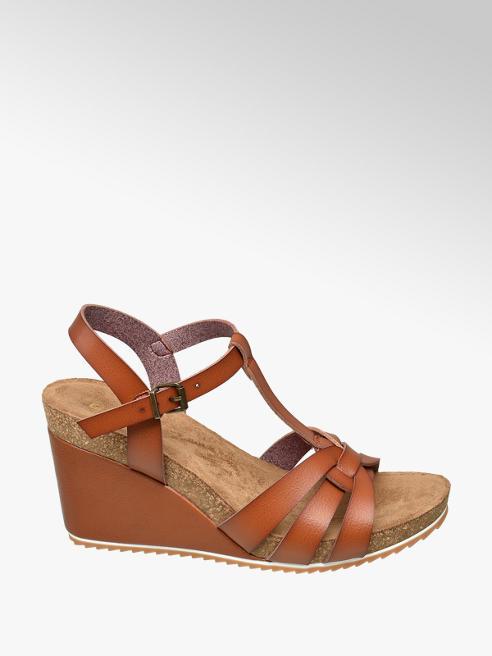 Graceland Tan Wedge Sandals