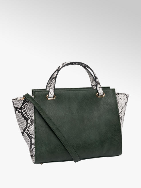 Green Snake Print Tote Bag
