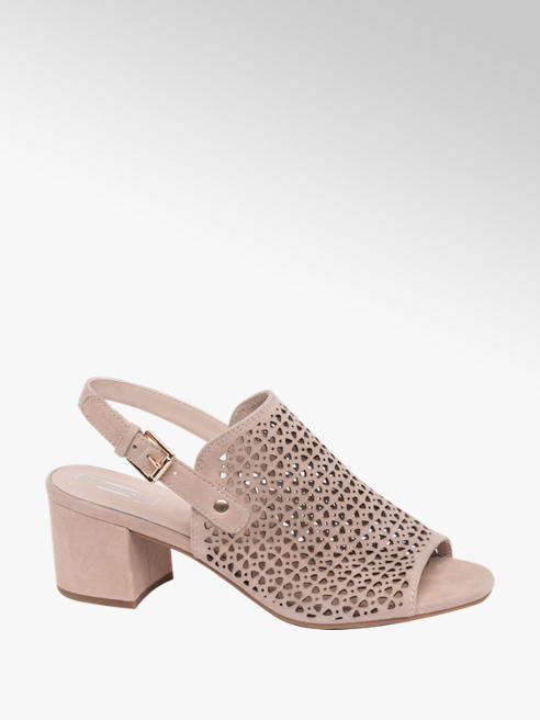 5th Avenue Pink Caged Heeled Sandal