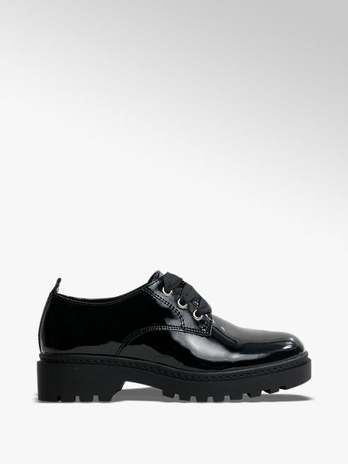 Graceland Teen Girl Chunky Patent Lace-up School Shoes