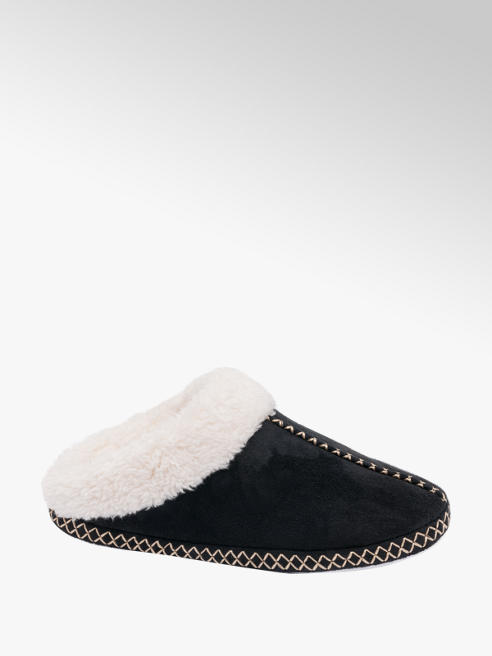 Ladies Stitch Detail Mule Slippers