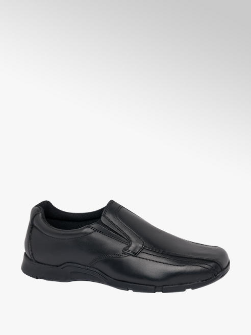 Lambretta Lambretta Teen Boys Black Slip On Shoes