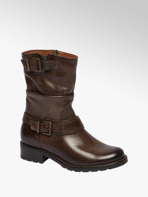 Landrover Bruine leren boot siergespen