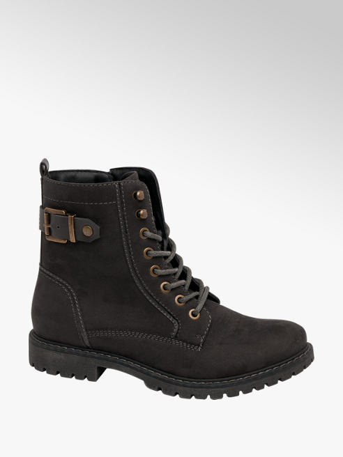 Landrover Grey Lace-up Ankle Boots
