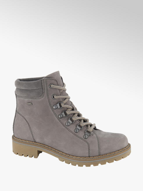 Landrover Grey Leather Hiker Boots