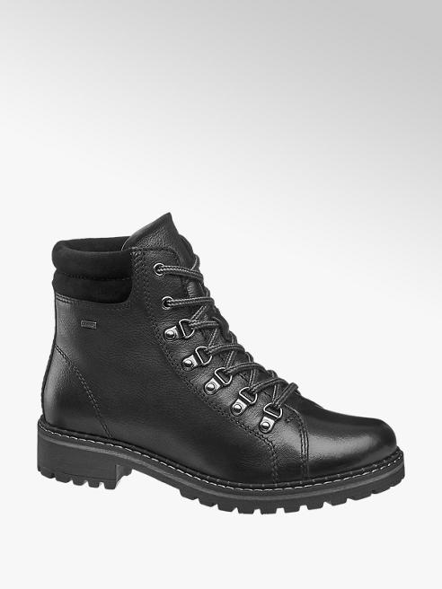 Landrover Black Leather Lace Up Boots