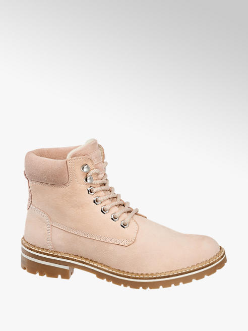 Landrover Light Pink Lace-up Ankle Boots