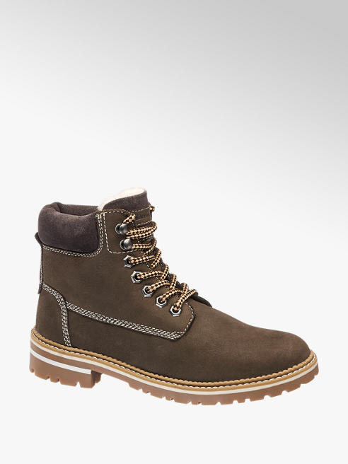 Landrover Brown Leather Lace-up Boots