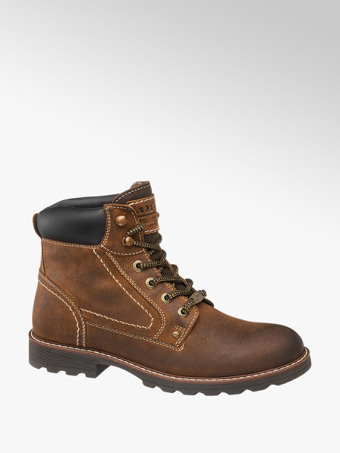 Landrover Mens Landrover Brown Leather Lace-up Boots