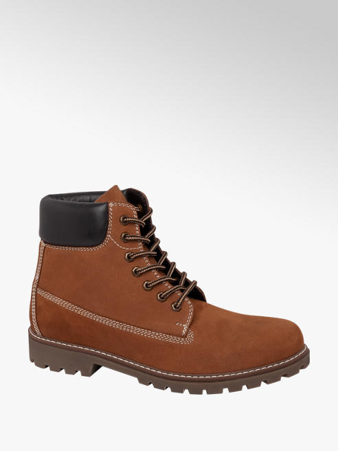 Landrover Mens Landrover Leather Honey Lace-up Boots