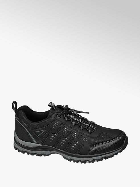 Landrover Zwarte wandelschoen elastiek